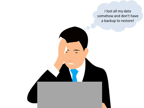 Business owner who lost all data and do not have backup to restore