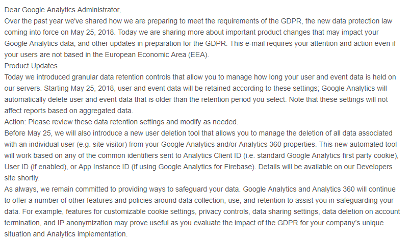 Important Notice Lates Google Analytics Update